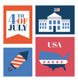 usa independence day related image vector image vector image