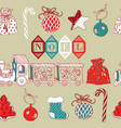 Vintage Christmas Noel Background vector image vector image