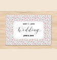 wedding card with hearts pattern background vector image vector image