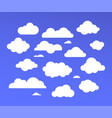 white clouds collection - set colorful vector image