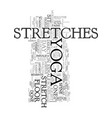 yoga stretches text word cloud concept vector image vector image