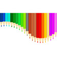 colorful pencil texture background vector image