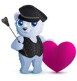 white bear in black leather clothes in style of vector image