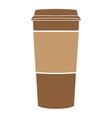 paper coffee cup symbol vector image