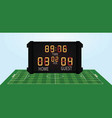 soccer field and scoreboard vector image