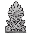 ante-fixae from latin antefigere vintage engraving vector image vector image
