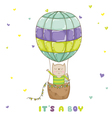 Baby Cat with a Balloon - Baby Shower Card vector image vector image