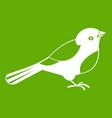 bird icon green vector image vector image