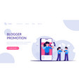 blogger promotio concept advertising with the vector image vector image