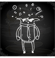 Bursting Head Drawing on Chalk Board vector image