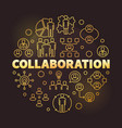 business collaboration golden round outline vector image vector image