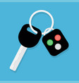 car key and alarm system vector image vector image