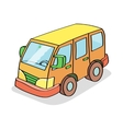 Cartoon Bus Colored vector image vector image
