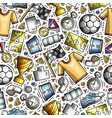 cartoon cute hand drawn sport seamless pattern vector image vector image