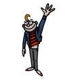 cartoon image of waving man vector image vector image