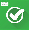 check mark icon business concept tick yes ok vector image vector image
