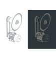 circular saw isometric drawings vector image vector image
