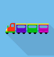 city train toy icon flat style vector image vector image