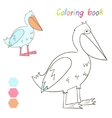 Coloring book pelican kids layout for game vector image vector image