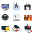 computer security icons vector image vector image
