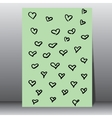 Creative card with hand drawn vector image vector image