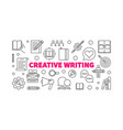 creative writing horizontal linear vector image
