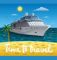 cruise ship resort vector image vector image