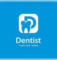 dental health logo design and initials d vector image vector image