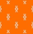 dna pattern orange vector image vector image