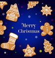 drawing a christmas card design vector image vector image