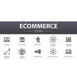 ecommerce simple concept icons set contains such vector image vector image