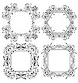floral frames filigree ornaments vector image