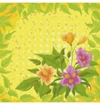 Flowers alstroemeria and leafs vector image
