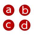font letter vector image vector image
