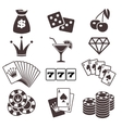 Gambling poker card game casino luck vector image vector image