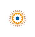 gear sun logo icon design vector image vector image
