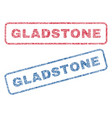 gladstone textile stamps vector image vector image