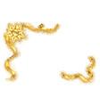 gold ribbon frame golden serpentine design vector image vector image