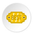 golden label with the best inscription icon circle vector image vector image