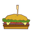 hamburger cheeseburger fast food vector image vector image