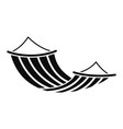 hammock icon simple style vector image vector image