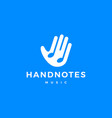 Hand music notes logo icon