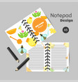 honey organizer with flat honey elements notes vector image vector image