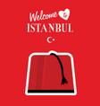 istambul turkey icon design in red color vector image vector image