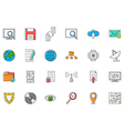 IT technology colorful icons set vector image vector image