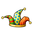 Jester hat isolated on white background vector image