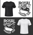 knight in armor t-shirt print fighter club emblem vector image vector image