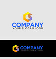 logo polygon letter c and s 02 vector image vector image