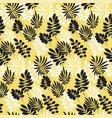 modern plant pattern vector image vector image