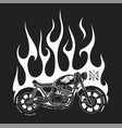motorcycle and fire t-shirt print design vector image